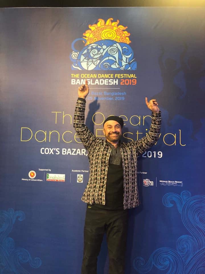 Dance artist Sashar Zarif at the Ocean Dance Festival in November 2019.